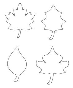 Drawn pumpkin leaf Printable for Drawing Template oil