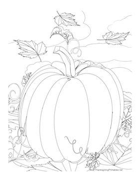 Drawn pumpkin thanksgiving Leaves drawing Pumpkin Pinterest to