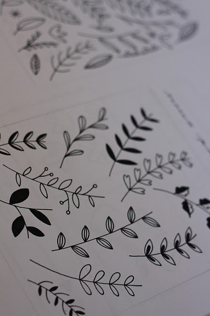 Drawn leaves flower leaves As Straughan These simple Floral