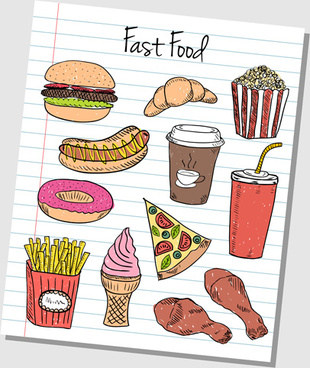 Drawn food Vector) 460 Free (9 vector