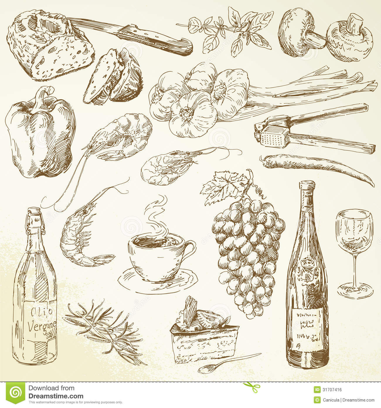 Drawn food  Inspiration Pinterest Design 1
