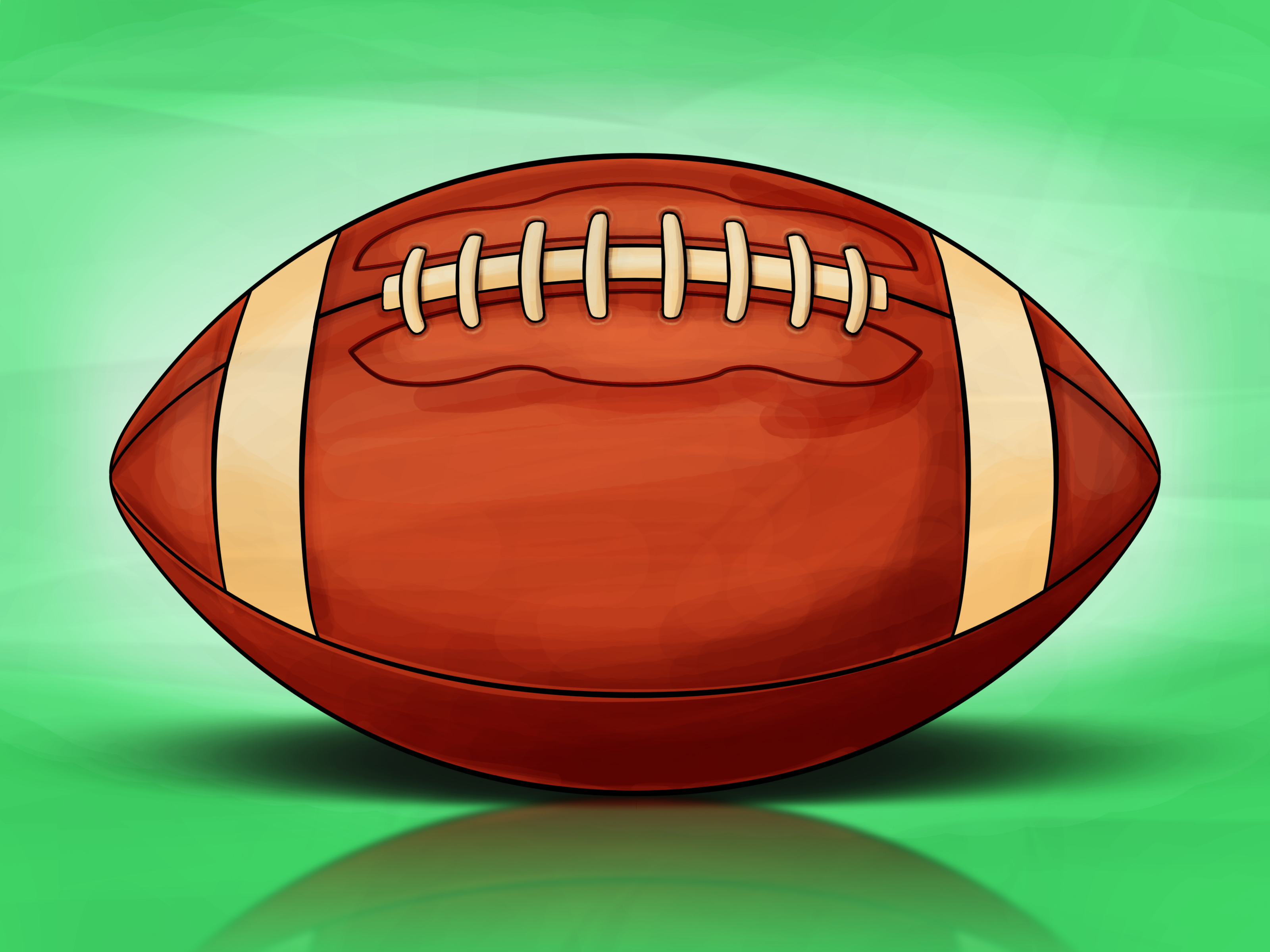 Drawn football white background (with Football: a 13 How