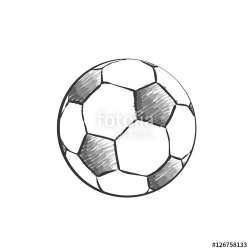 Drawn football Icon Football style in doodles