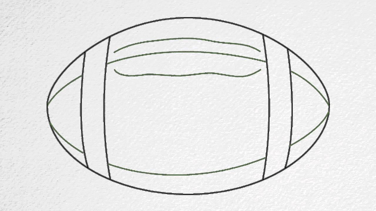 Drawn football To step by step FOOTBALL