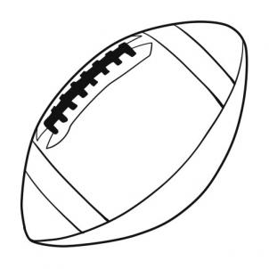 Sketch clipart football Pop How draw FREE 8