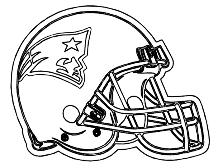 Drawn football coloring page nfl Kids Coloring New Page England