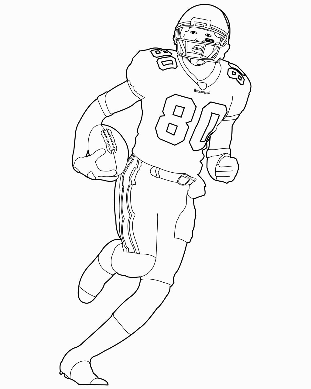 Drawn football coloring page nfl Nfl Nfl Football Football Pages