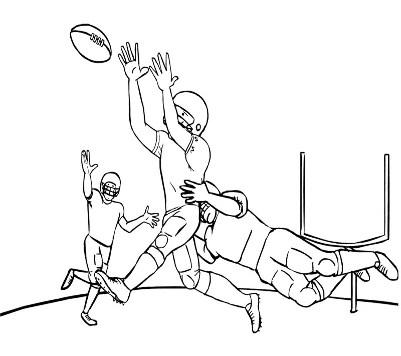 Drawn football coloring page nfl Nfl Coloring Coloring Nfl Pages