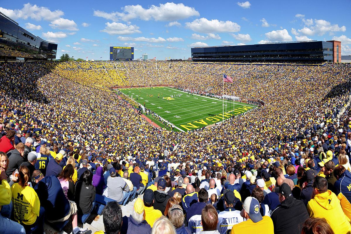 Drawn football michigan Michigan Stadium  Wikipedia