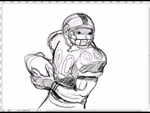 Drawn football nfl football Draw a To: NFL Football