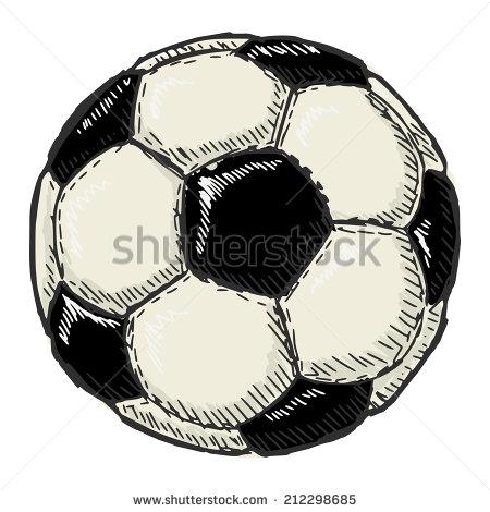 Drawn amd football Sketch of ball  drawn