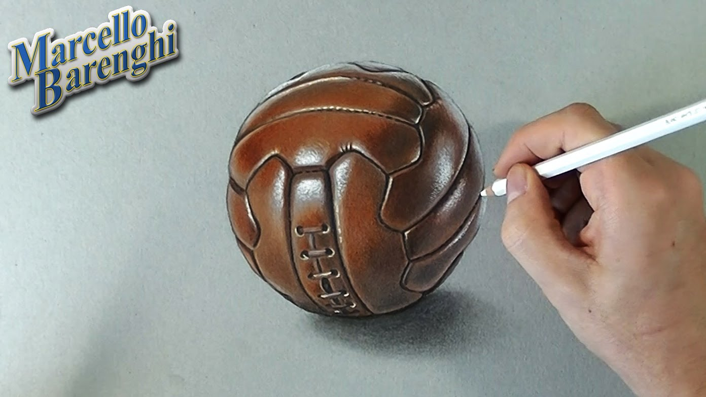 Drawn football realistic Draw YouTube How the leather