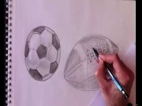 Drawn football realistic / Easy Draw Real How
