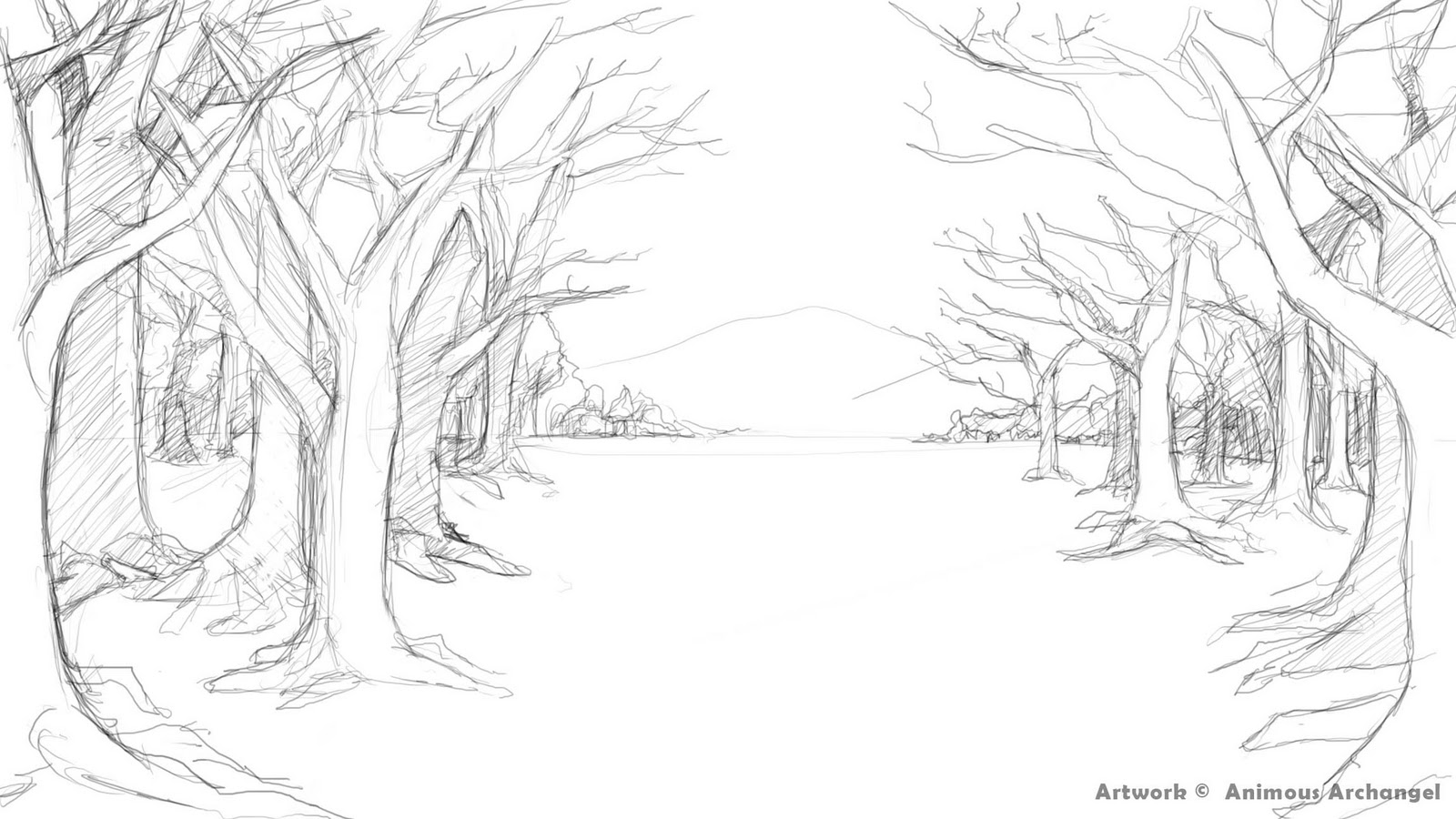 Drawn scenic forest Draws drawing ideas Google