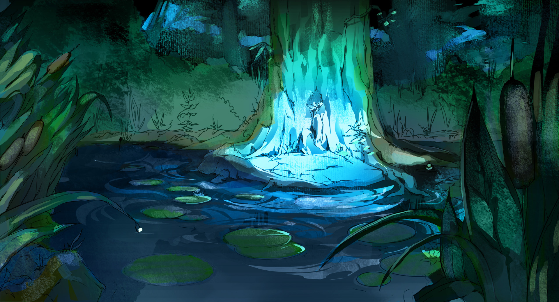 Drawn background forest Drawn 1920x1040 Backgrounds WallpaperPulse