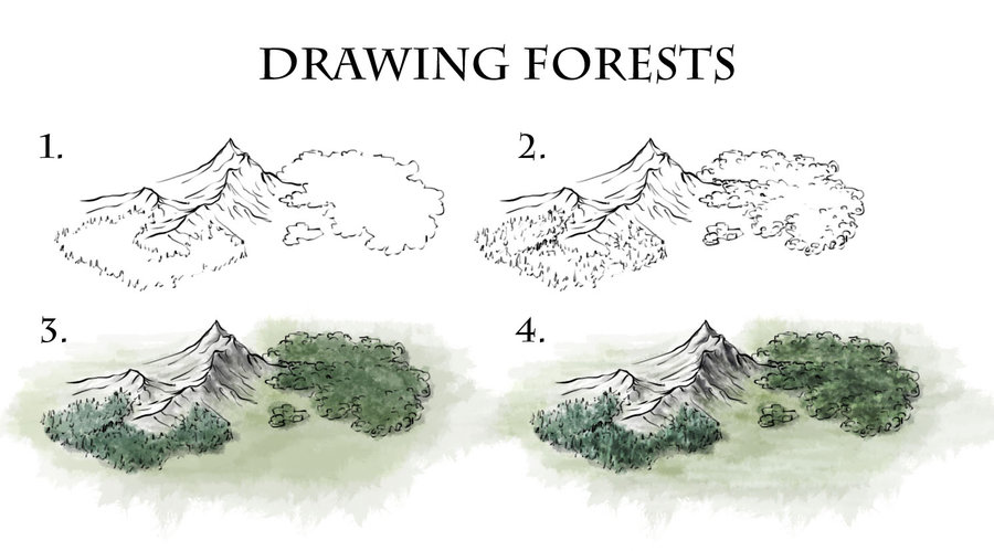 Drawn mountain isometric Maps How to on on