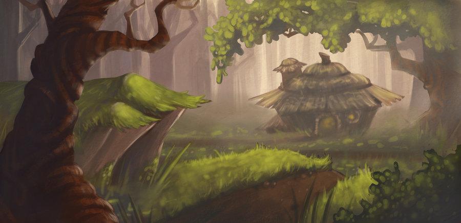 Drawn background forest By AlyssaTallent Painting Forest DeviantArt