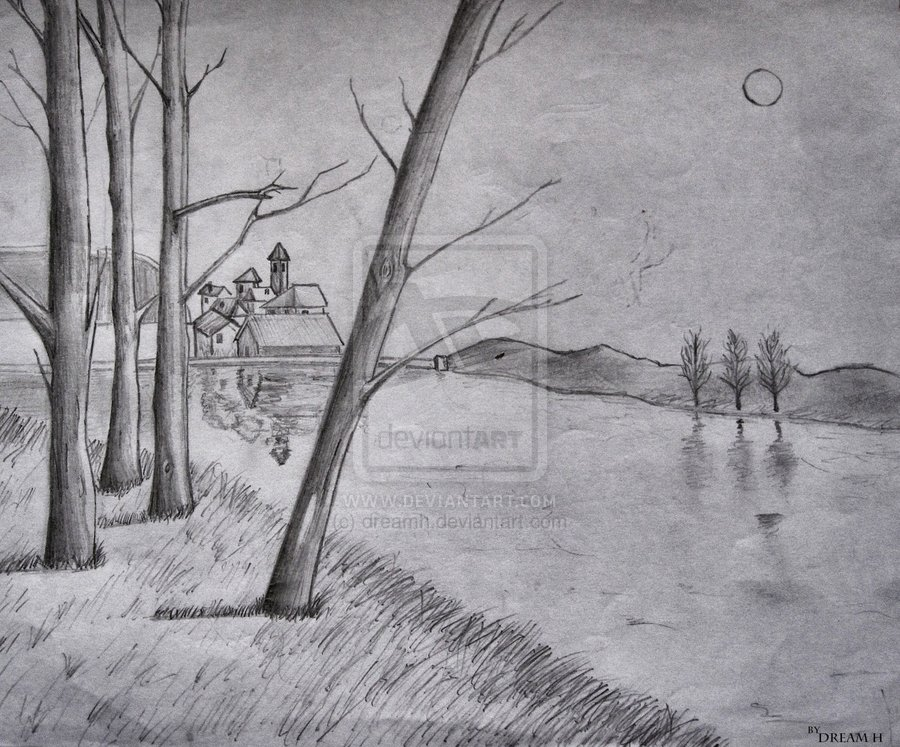 Drawn scenic vintage And drawings and drawings To