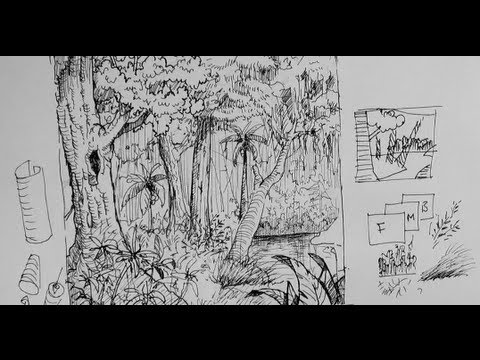 Drawn rainforest pen and ink To Tutorials How or draw