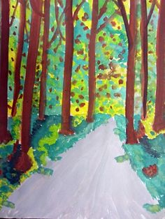 Drawn forest From Perspective