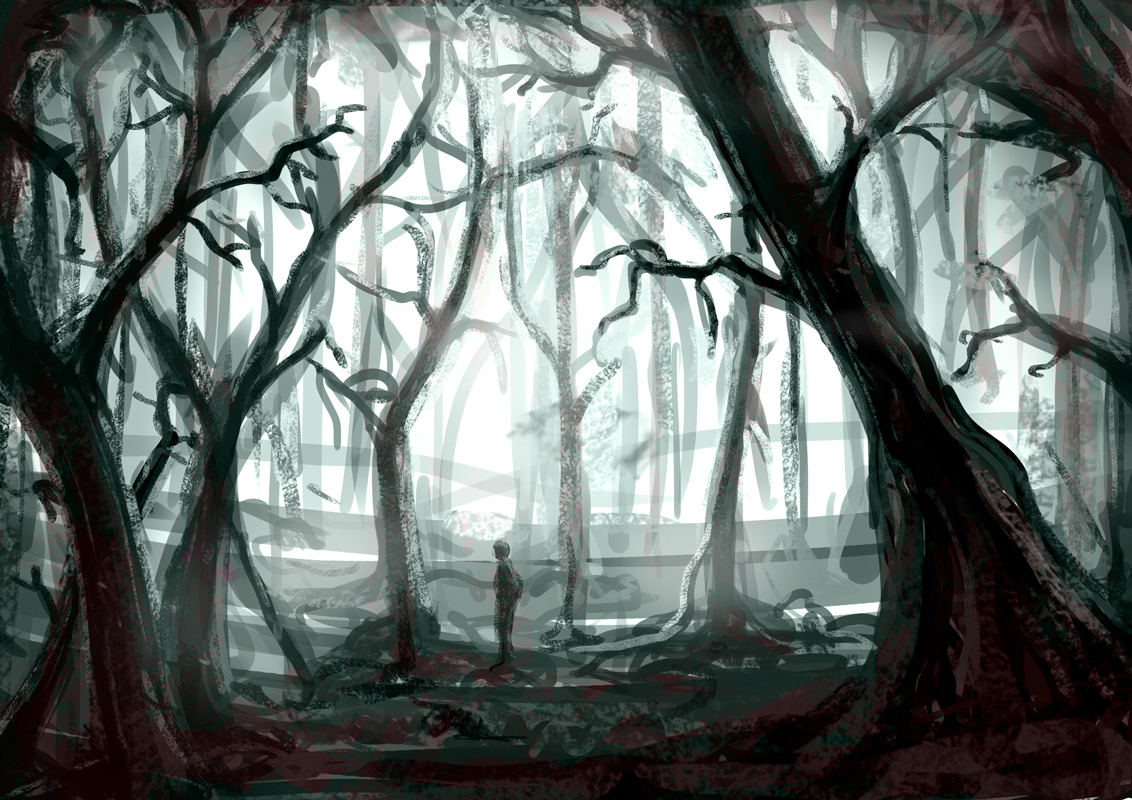 Drawn forest spooky Canyon Pictures Drawing Spooky Forest