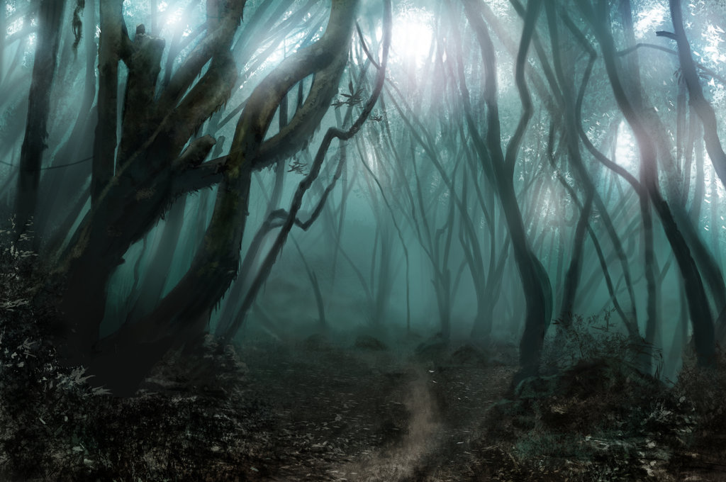 Drawn forest spooky Canyon Pictures Spooky Scary Drawing