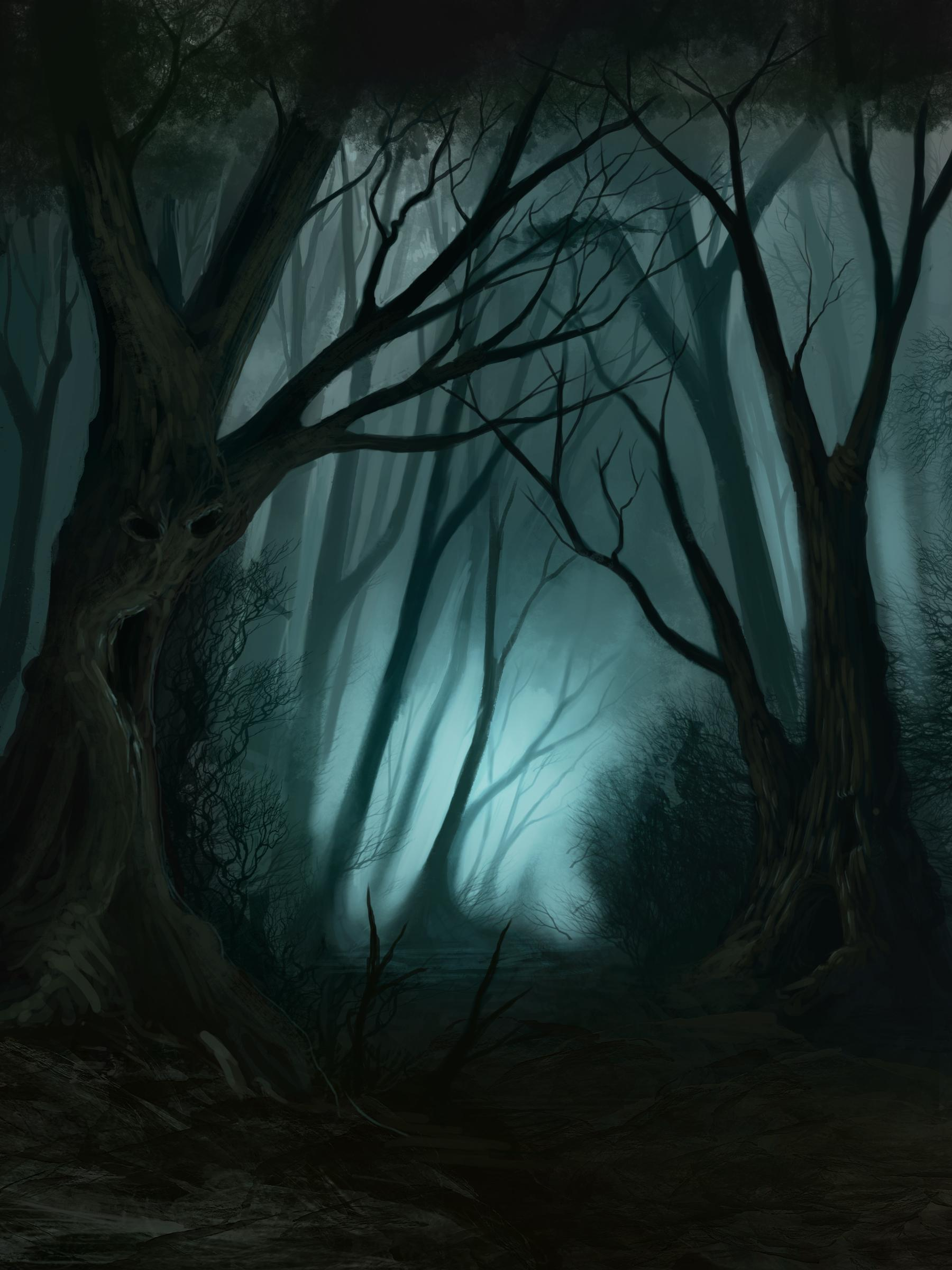 Drawn forest spooky Forest Pinterest source Afficher