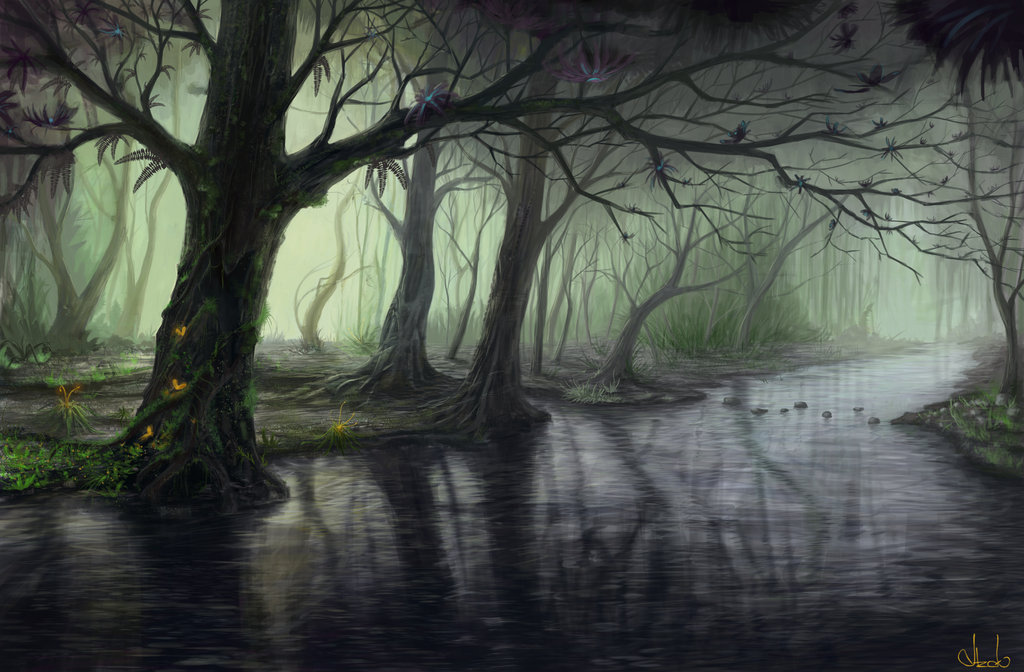 Drawn scenery forest Deviantart Forest Explore and Forest