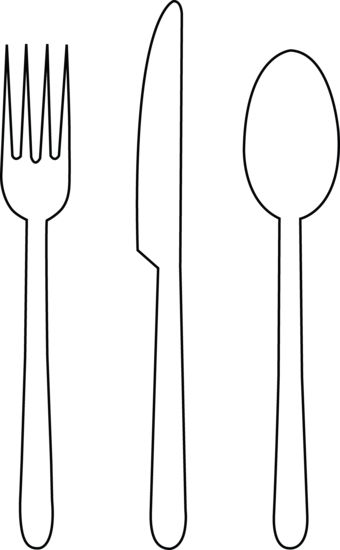Drawn fork Ideas spoon Menu knife of
