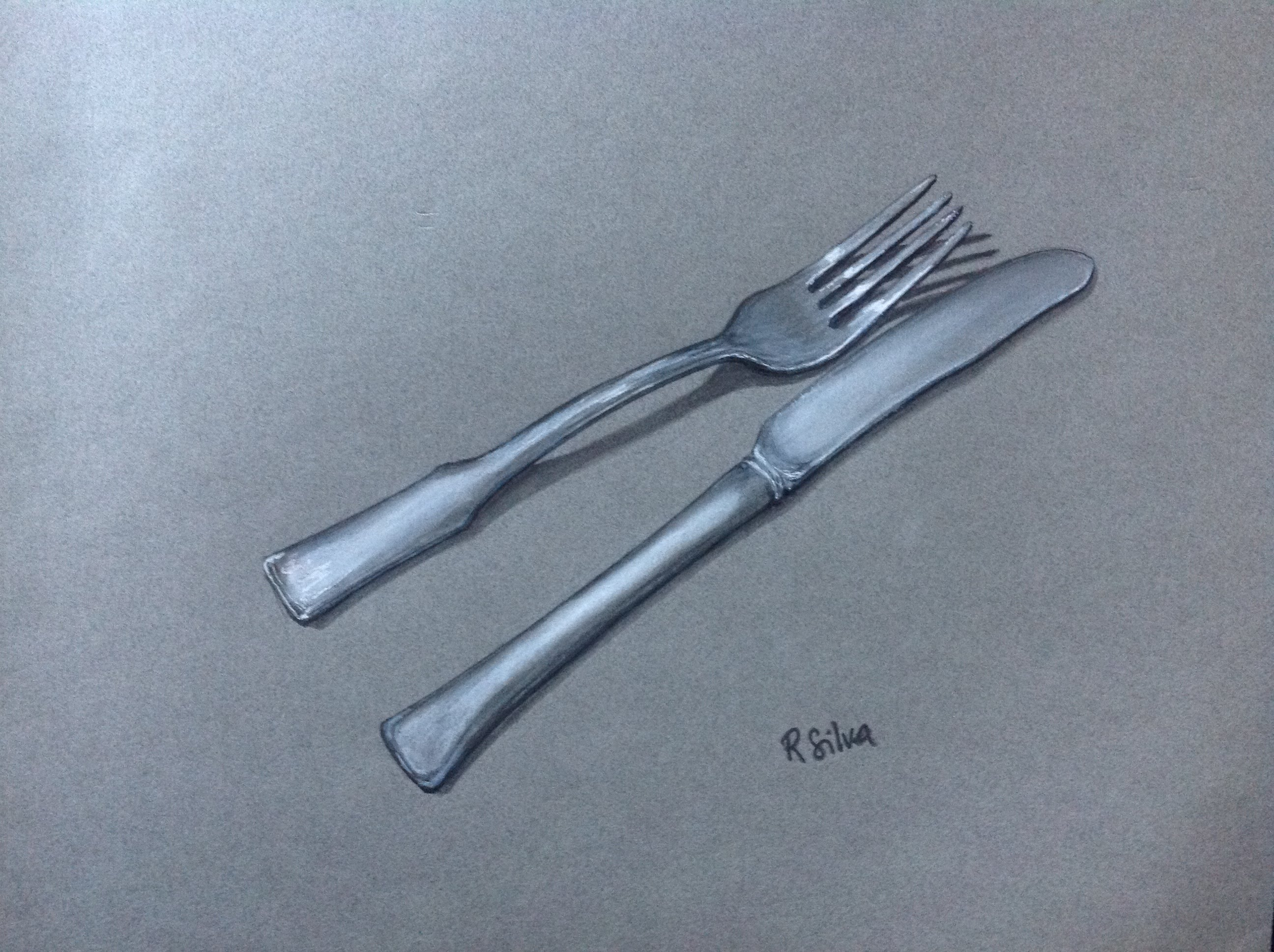 Drawn spoon cutlery Time Knife and How to