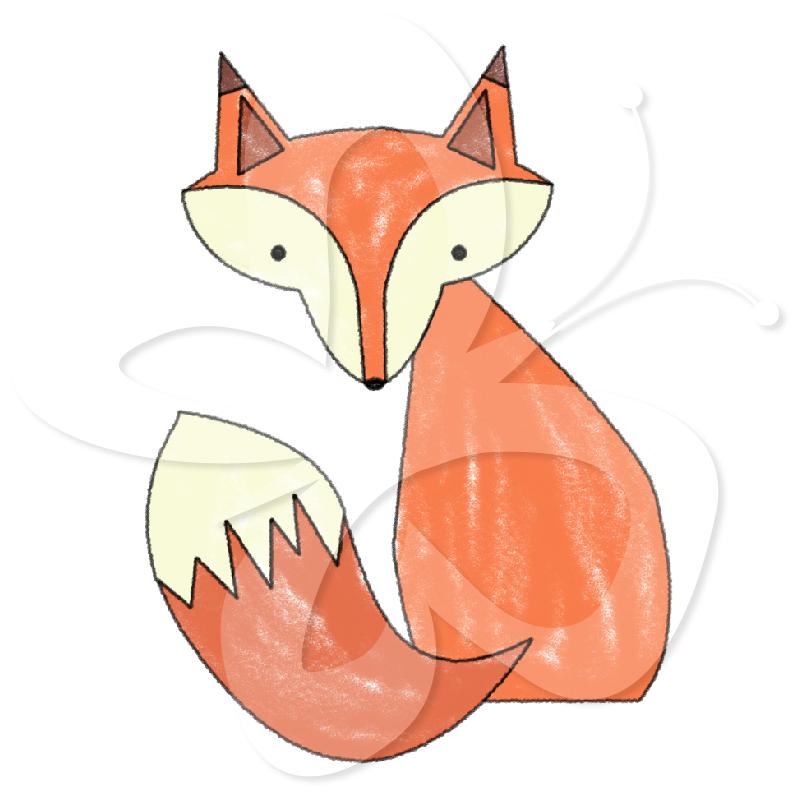 Drawn fox Clipart  Collection Art Set