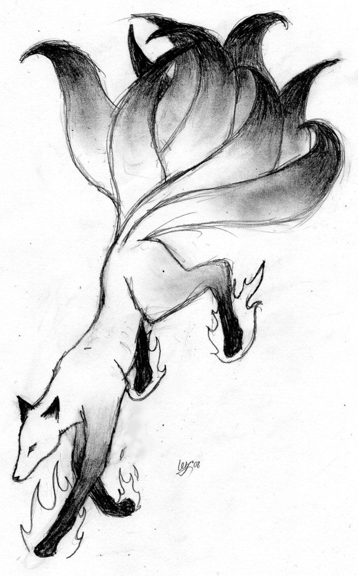 Drawn spirit easy Fox Spirit Drawing best Sketch