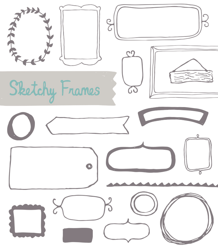Drawn frame Vector angiemakes com Vector Hand
