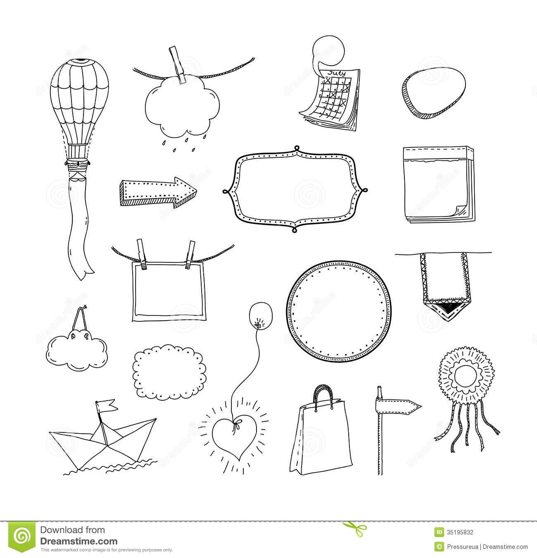 Drawn frame Para imagem hand Journal para