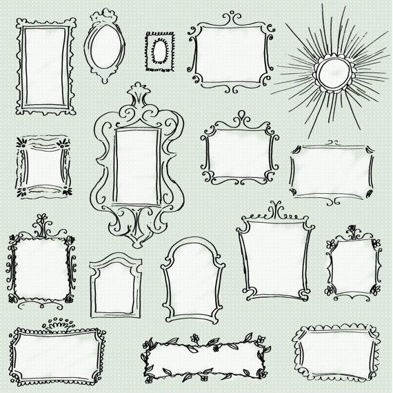 Drawn frame Frames Hand images Pack Banners