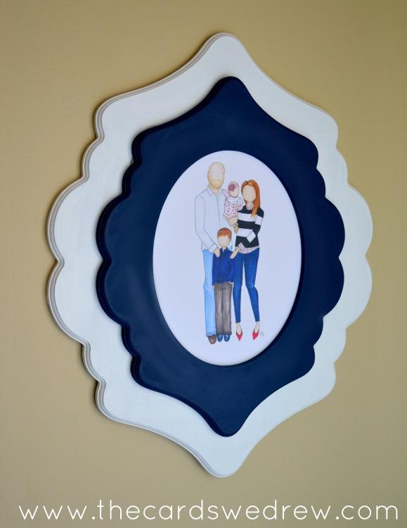 Drawn frame White & wood Frame frame