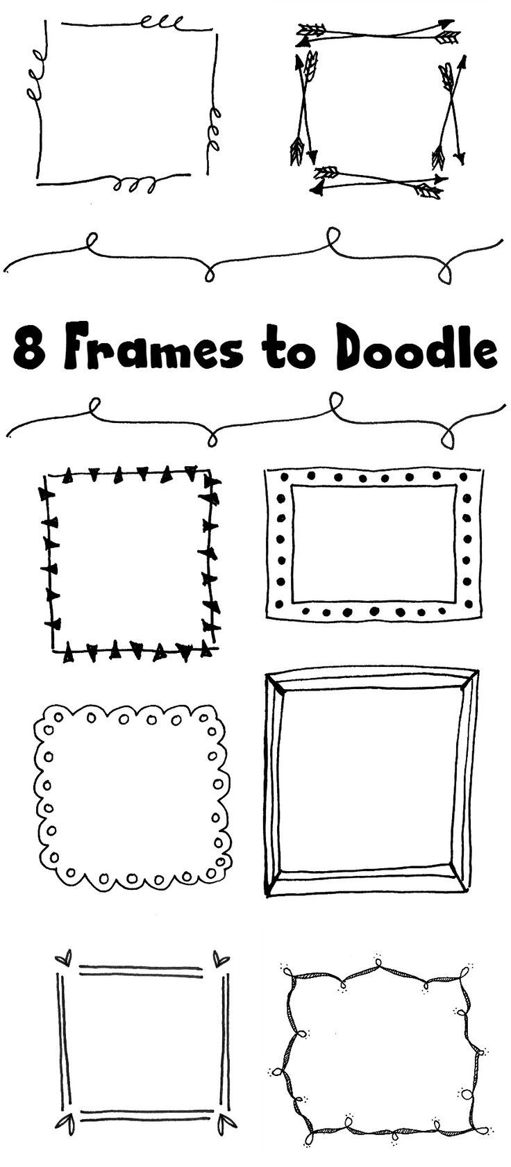 Drawn frame Frames ideas to on Doodle