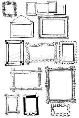 Drawn frame Elk alle kader ideas Cute