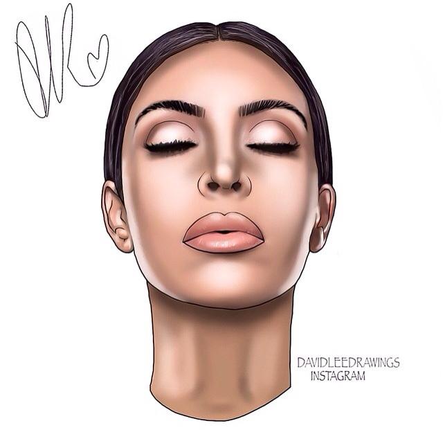 Drawn amd kim kardashian Https://instagram  com/davidleedrawings/? Kardashian https://instagram
