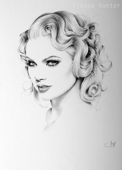Drawn portrait taylor swift Portrait Swift IleanaHunter deviantart Minimal