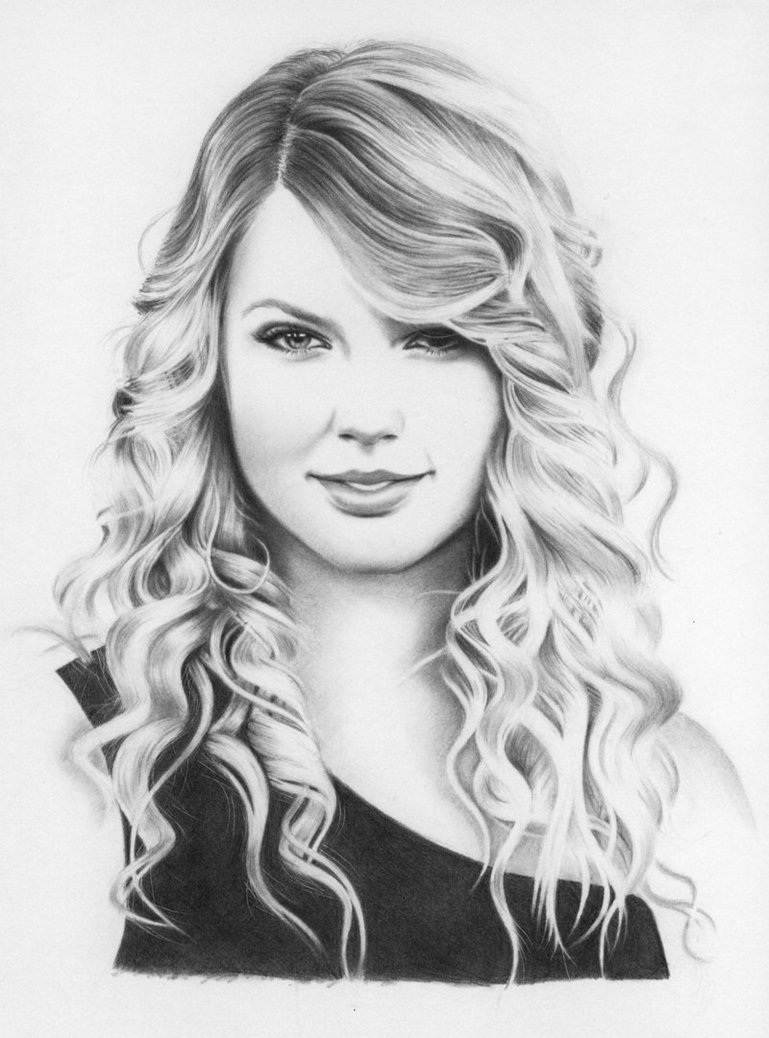 Drawn portrait taylor swift Google swift swift Taylor taylor