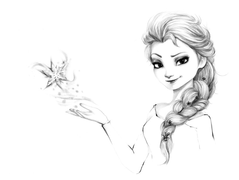 Drawn frozen On by DeviantArt Frozen Elsa