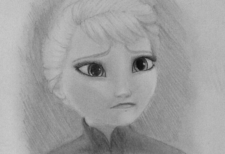 Drawn frozen On drawn DeviantArt hand Frozen:Elsa
