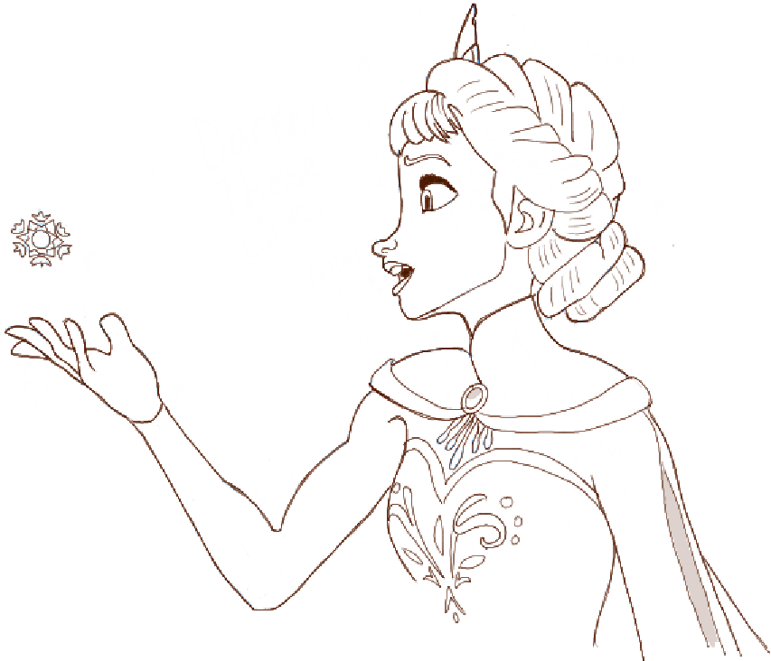 Drawn princess step by step Tutorial Step Tutorial by Elsa