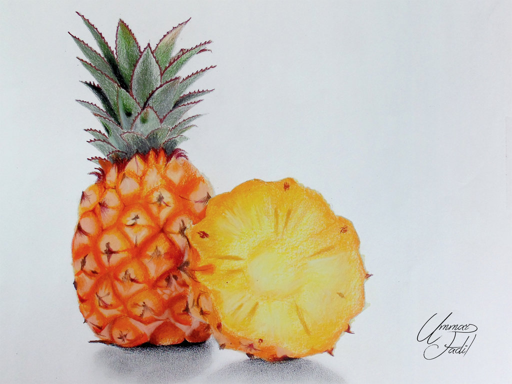 Drawn strawberry color pencil I Fruits l Colored by