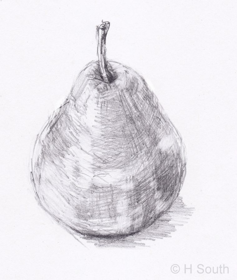 Drawn pear easy An and Shading Shadows Lesson