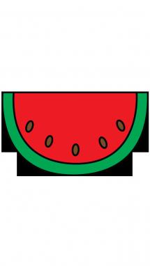 Drawn watermelon large Step Watermelon Fruits to Kids