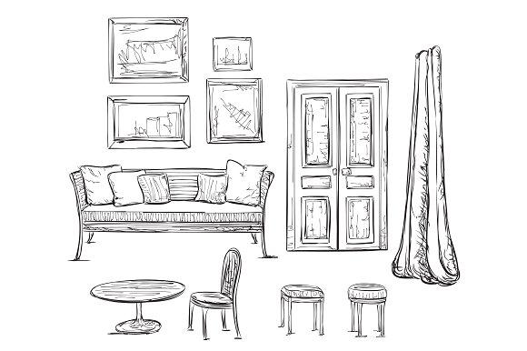 Drawn furniture Illustrations Creative on Drawn ~
