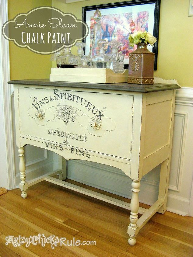 Drawn furniture Paint Charm!{Chalk furniture Paint painted