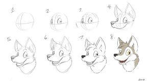 Drawn furry Tutorial Canine DeviantArt Furry Guide